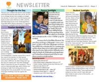Panyaden School Newsletter - Issue 8 February 2013 - March 2013