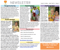 Panyaden School Newsletter - Issue 9 April 2013 - May 2013