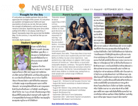 Panyaden School Newsletter - Issue 11 August - September 2013