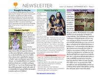 Panyaden School Newsletter - Issue 11 August - September 2013