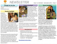Panyaden School Newsletter - Issue 12 October - November 2013
