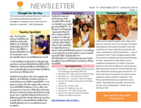 Panyaden School Newsletter - Issue 13 December 2013 - January 2014
